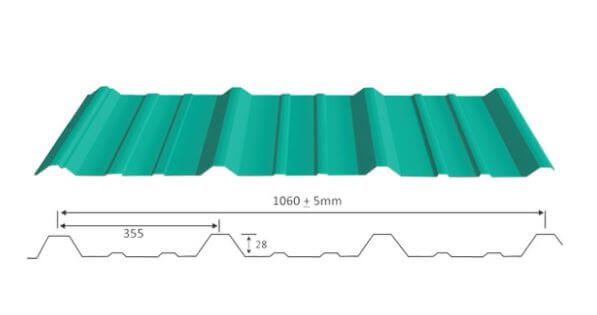 Galvalume colour coated roofing sheets